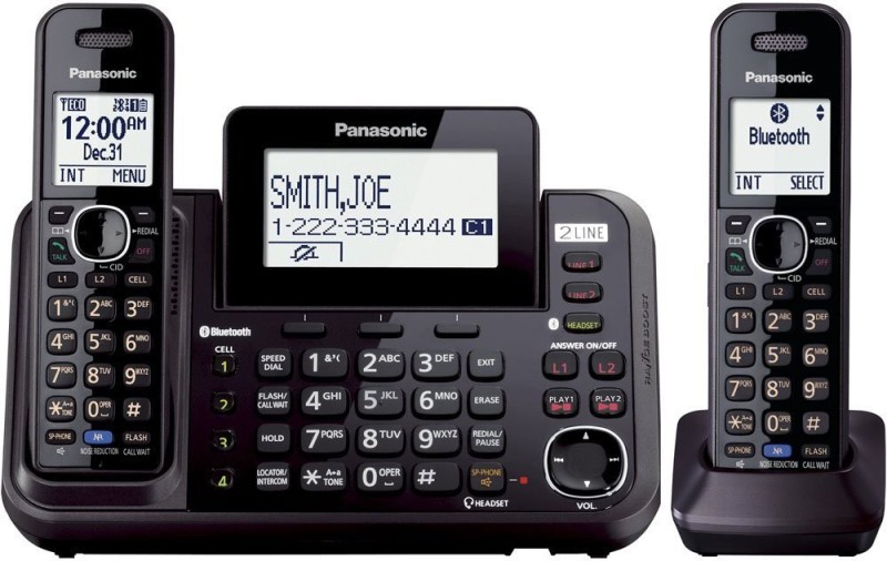 Panasonic KX-TG9542B Cordless Landline Phone with Answering Machine(Black)
