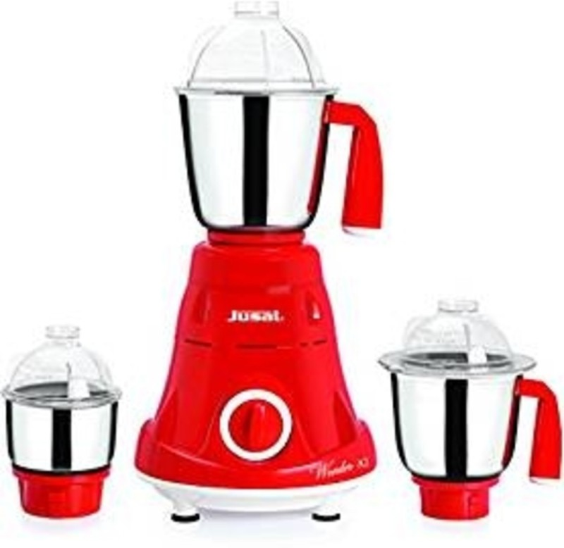 jusal Wonder 600 600 Juicer Mixer Grinder(Red, 2 Jars)