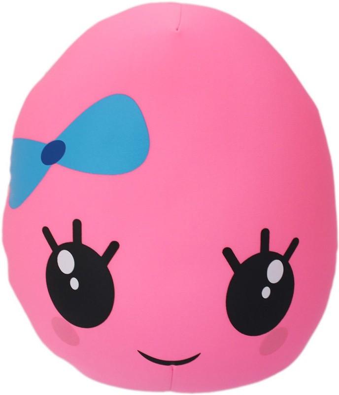 Tootpado Oval Shape Emoji Cushion 13x14(36cm) Throw Pillow(Pink)