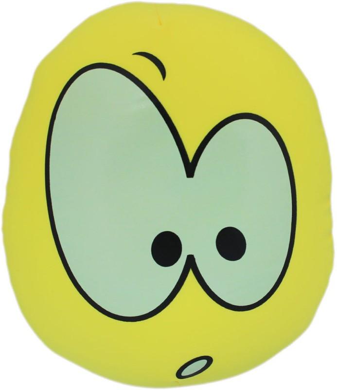 Tootpado Oval Shape Emoji Cushion 13x14(36cm) Throw Pillow(Yellow)