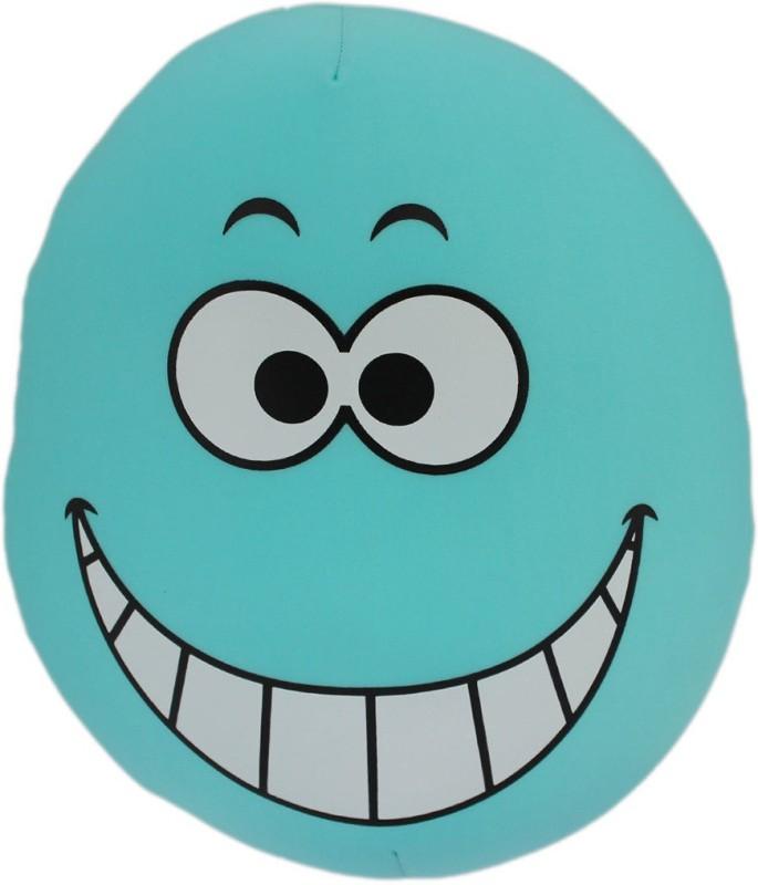 Tootpado Oval Shape Emoji Cushion 13x14(36cm) Throw Pillow(Blue)