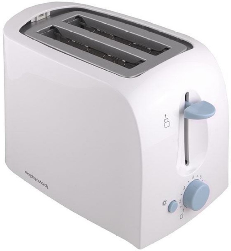 Morphy Richards AT 201 650 W Pop Up Toaster(White)