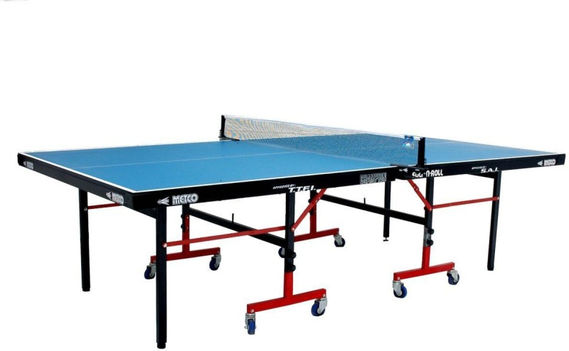 metco Rollaway Indoor Table Tennis Table(Blue)