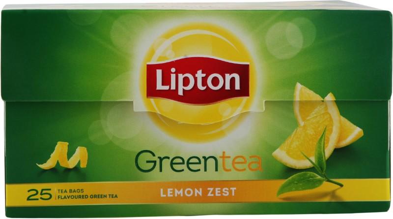 Lipton Zest Lemon Green Tea Bags(25 Bags, Box)