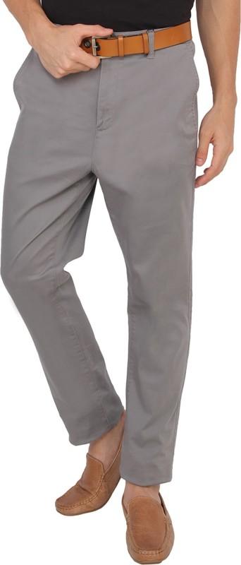 Calvin Klein Slim Fit Men Grey Trousers