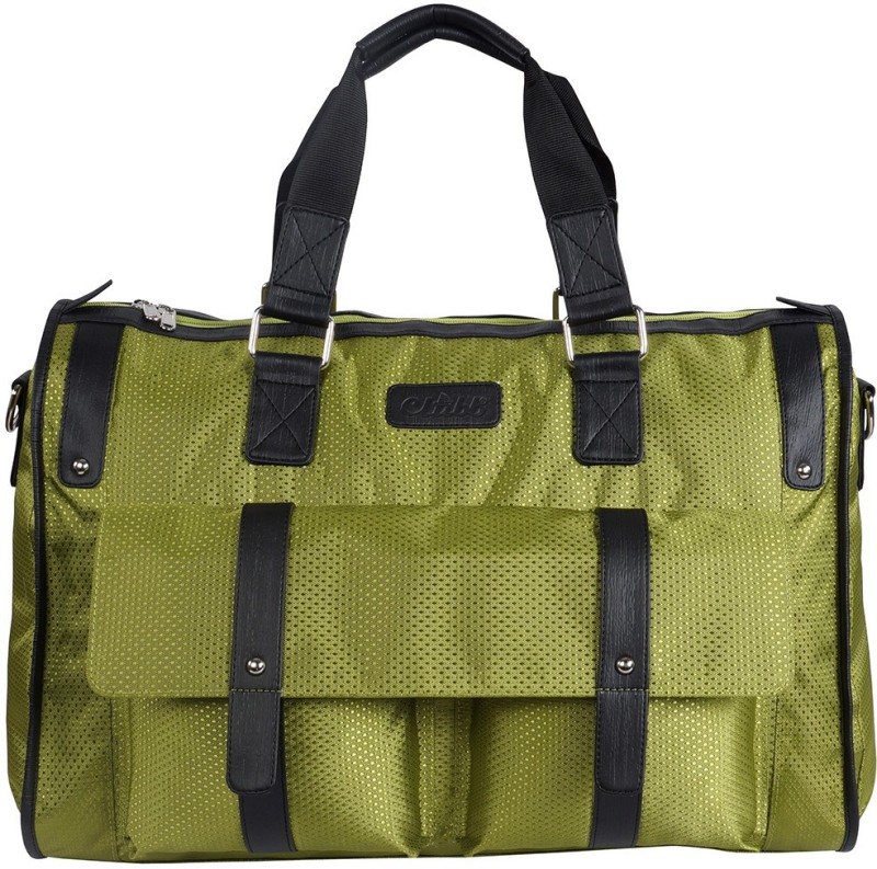 Clubb Olive Green Pearl Travel Duffel Bag(Beige)