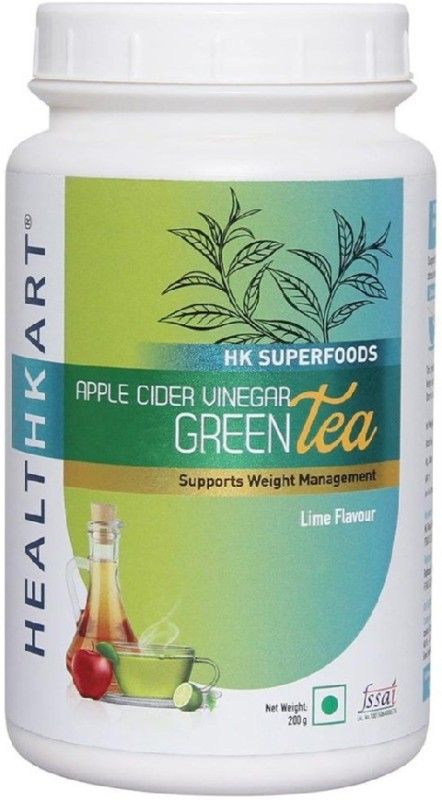 Healthkart Apple Cider Vinegar Green Tea - 200 g Lime Green Tea(200 g, Plastic Bottle)