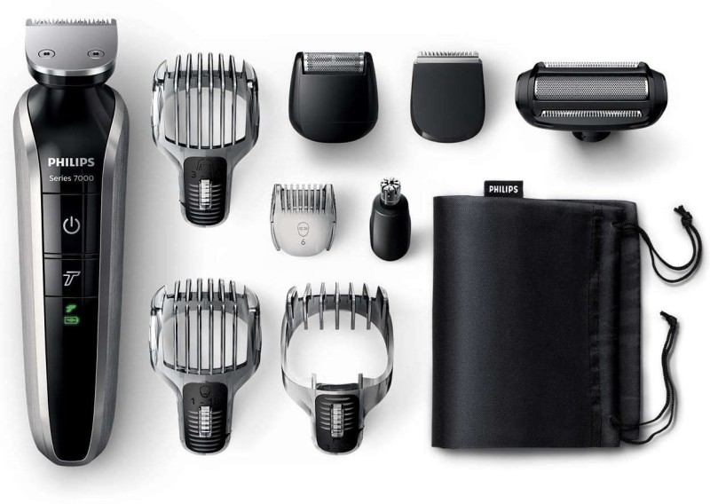 Philips QG3387/15 Multi Grooming Kit 9 in 1 Head To Toe Cordless Grooming Kit for Men(Black)