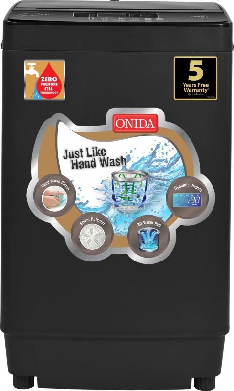 Onida 7.5 kg Fully Automatic Top Load Washing Machine Grey(T75GRDG)
