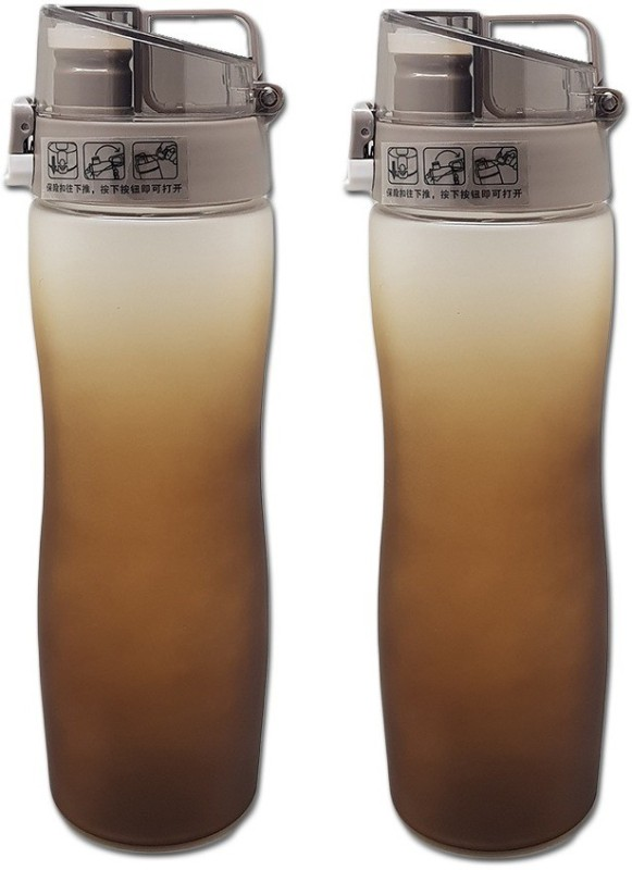 Tuelip Sports Water Bottle For Outdoor Cycling Hiking Brown (Pack 2) 600...