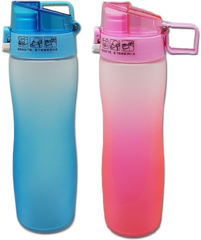 Tuelip Sports Water Bottle For Outdoor Cycling Hiking Pink (Pack 2) 600...