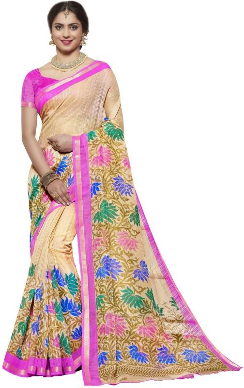 TRUNDZ Floral Print Venkatagiri Cotton Saree(Multicolor)
