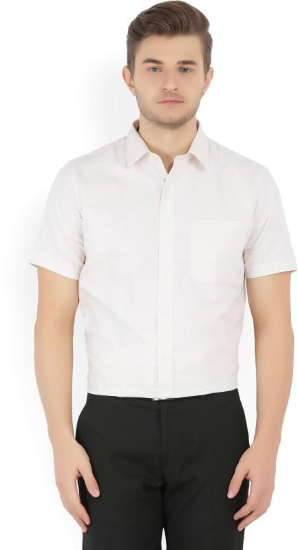 John Players Mens Woven Formal Beige Shirt