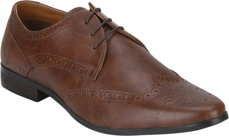 Bond Street By Red Tape Men Brogue Lace Up For Men(Tan)