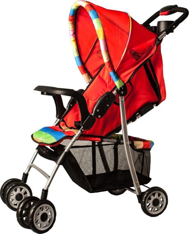 U-grow Baby Folding Stroller (Red) Stroller(3, Red)