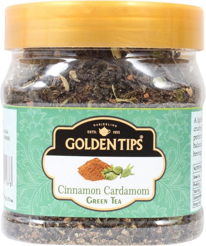 Golden Tips GT-279 Cinnamon, Cardamom Green Tea(100 g, Box)