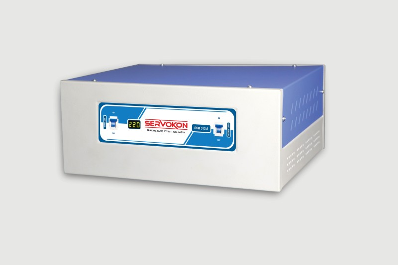servokon SKR 113 A Automatic Voltage Stabilizer(Blue & White)