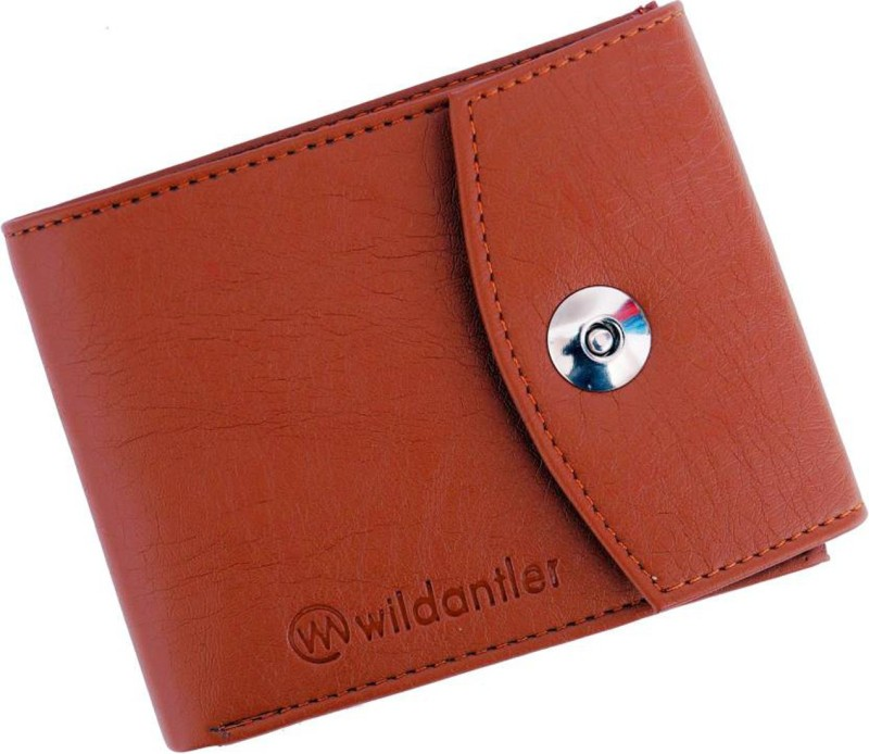 Wildantler Men Tan Artificial Leather Wallet(4 Card Slots)