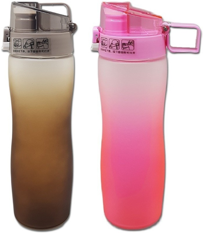 Tuelip Sports Water Bottle For Outdoor Cycling Hiking Brown-Pink (Pack 2) 600...