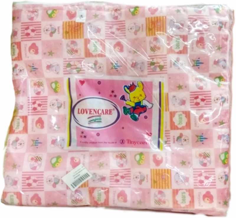 Tiny Care Baby Bed Twin Regular 211A L Size 3 Pieces/Pack- Pink Standard Crib(Cotton, Pink)
