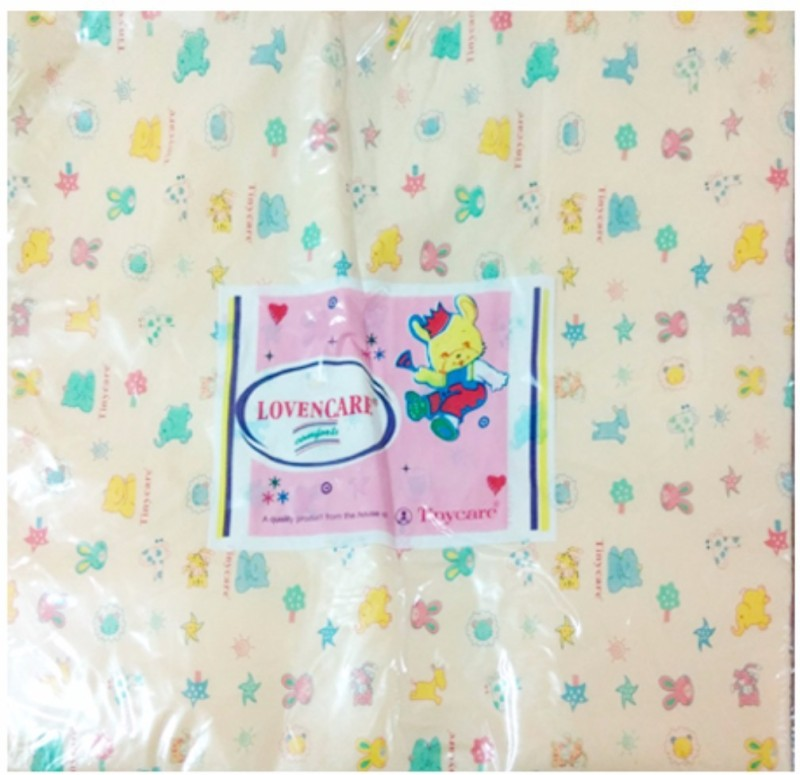 Tiny Care Baby Bed Printed With Foam 203A L Size- Peach Standard Crib(Foam, Peach)