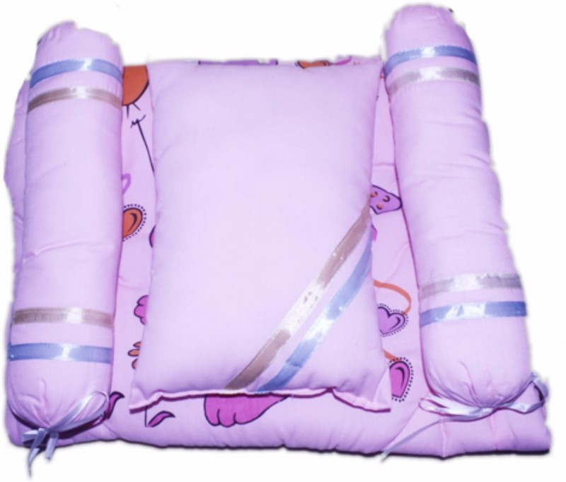 Tiny Care Baby Bed Super Comfort Filled With Fibre 214- Pink Standard Crib(Fibre, Pink)