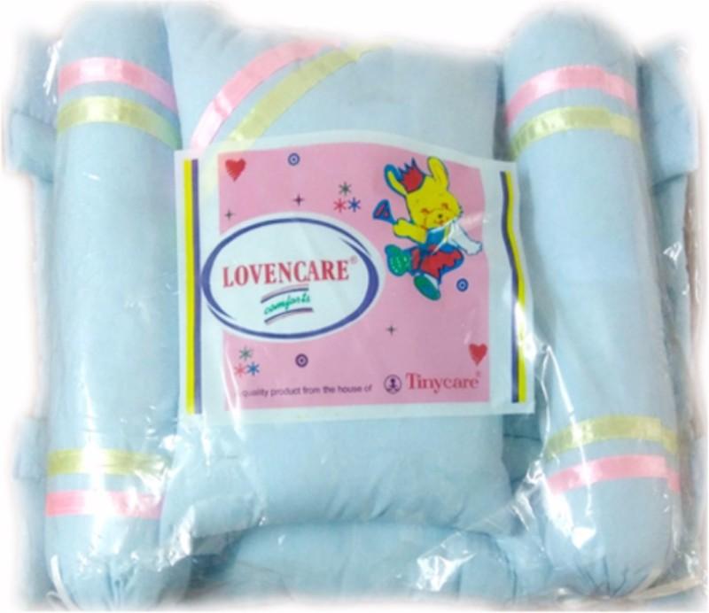 Tiny Care Baby Bed Super Comfort Filled With Fibre 214- Blue Standard Crib(Fibre, Blue)