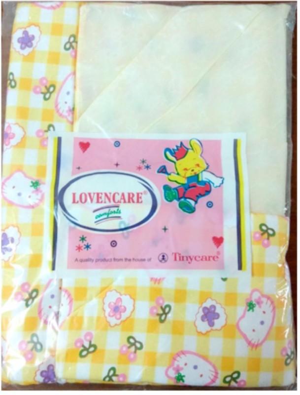 Tiny Care Baby Bed Plain-One Side Plastic 274C M Size 3 Pieces/Pack- Lemon Standard Crib(Plastic, Lemon)