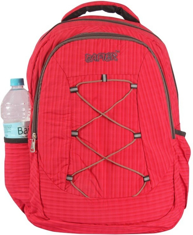 dafter Polyester Laptop Backpack (Red) 1.5 L Backpack(Red)