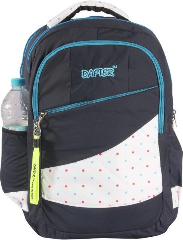 dafter Blue Polyester Laptop Backpack 1.5 L Backpack(Black)