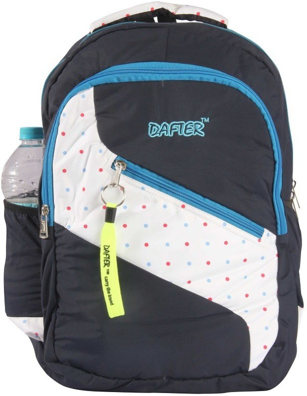 dafter Polyester Laptop Backpack (Black) 1.5 L Backpack(Black)