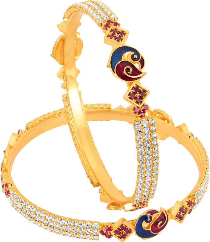 Divastri Copper 14K Yellow Gold Bangle Set