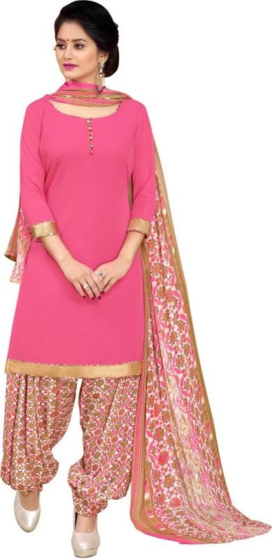 Saara Crepe Floral Print, Solid, Printed Salwar Suit Dupatta Material(Un-stitched)