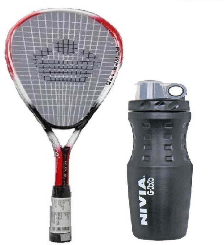 Nivia Combo of Two, One Power -175 Squash Racquet and One G-2020 Sipper Bottle Badminton Kit