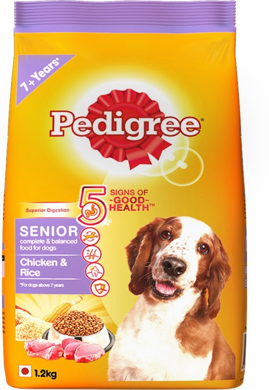 Pedigree Senior Chicken, Rice Dog Food(1.2 kg)