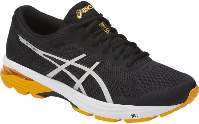 Asics Gt-1000 6 Running Shoes For Men(Black, Silver, Gold)