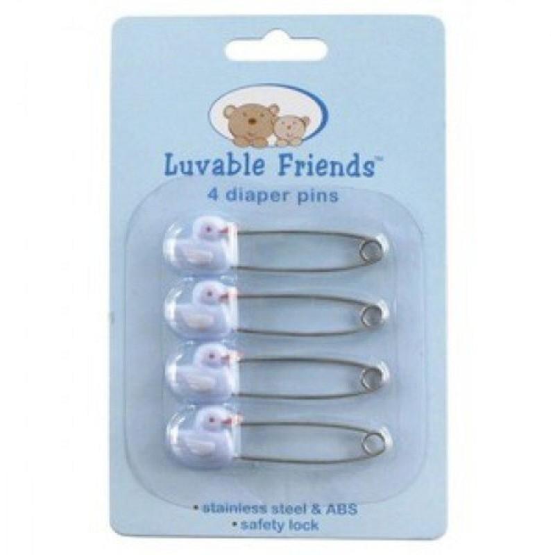 Lilsta Animal Face Diaper Pins (Set of 4)(Blue)