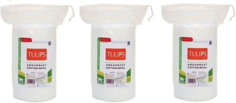 Tulips Absorbent Cotton Wool Roll 50 Gm(3 Units)