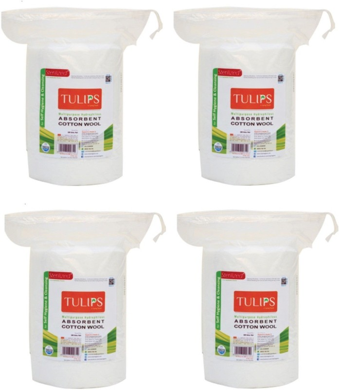Tulips Absorbent Cotton Wool Roll 50 Gm(4 Units)