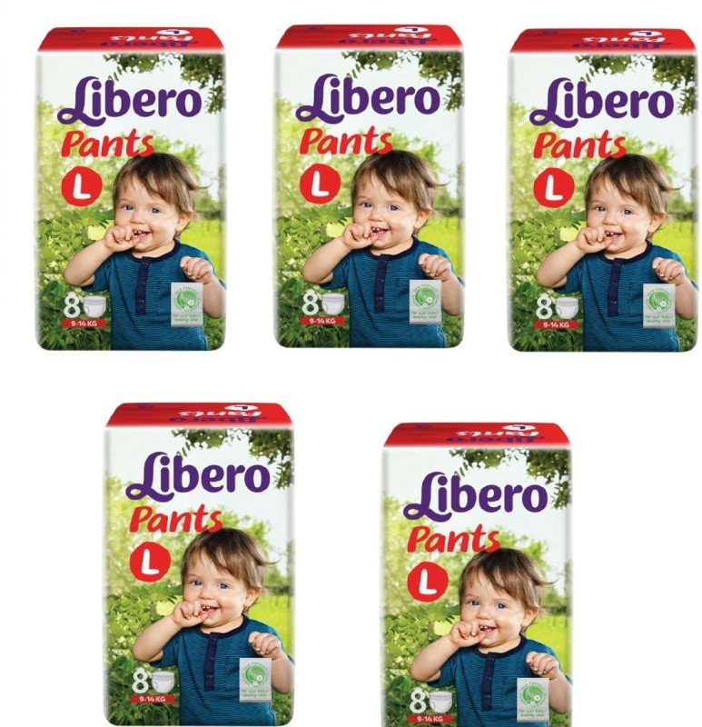 Libero Libero Diaper Pants Large Size (8 Counts) Pack of 5 - L(40 Pieces)