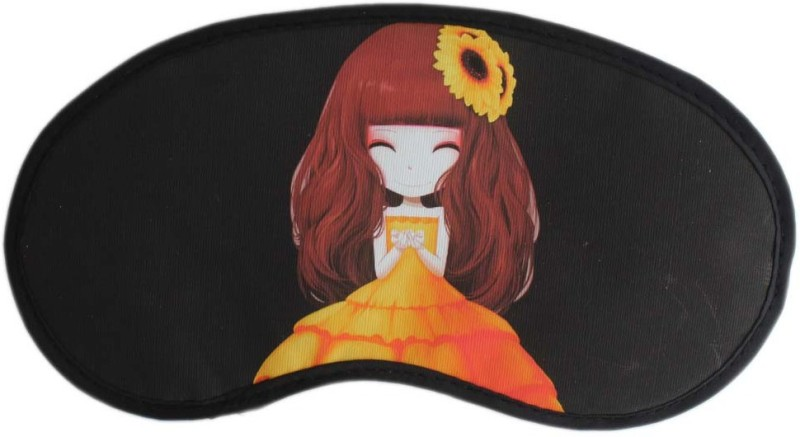 Tootpado Anime Cartoon Sleep Eye Mask With Elastic (Pack of 2) - Black (LNTq072)(12 g)