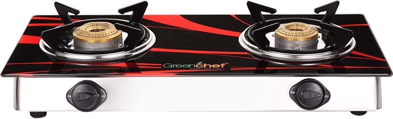 Greenchef Glass Manual Gas Stove(2 Burners)