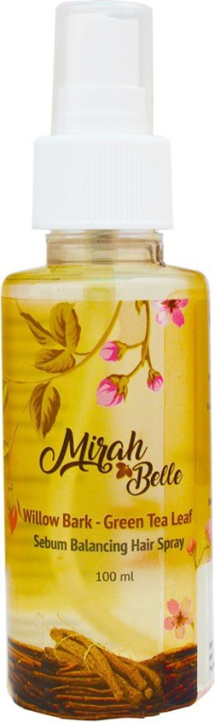 Mirah Belle Naturals Willow Bark Green Tea Leaf Sebum Balancing Hair Spray Hair Fragrance Spray(100, Transparent)