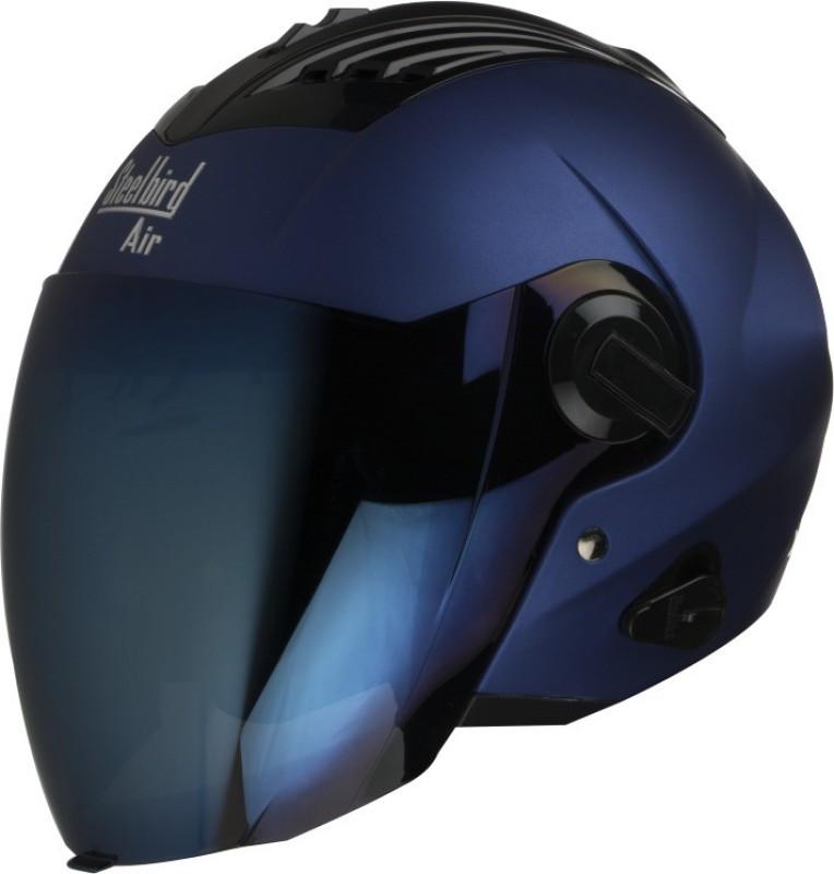 Steelbird SBA-3 Open face Supreme helmet Motorbike Helmet(Blue)