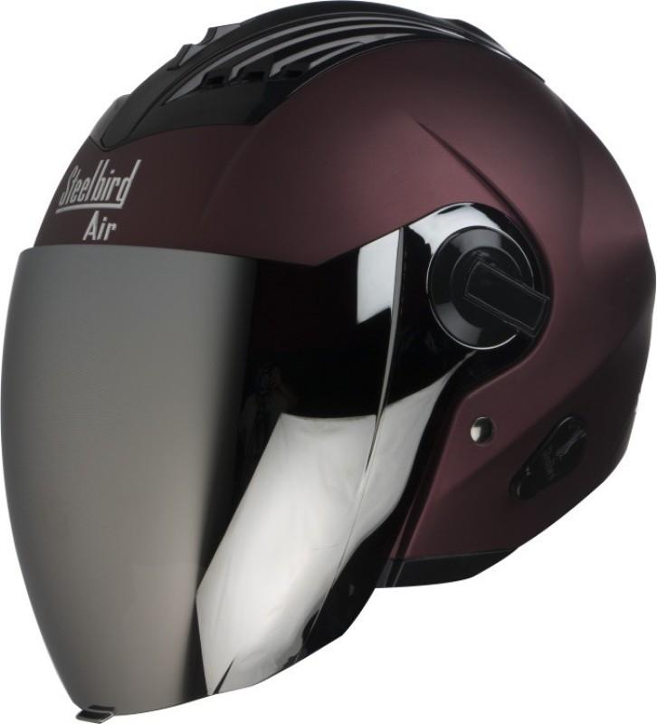 Steelbird SBA-3 Open face Motorbike Helmet(Maroon)