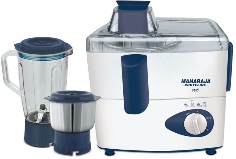 Maharaja Whiteline REAL 450 Juicer Mixer Grinder(Blue, 2 Jars)