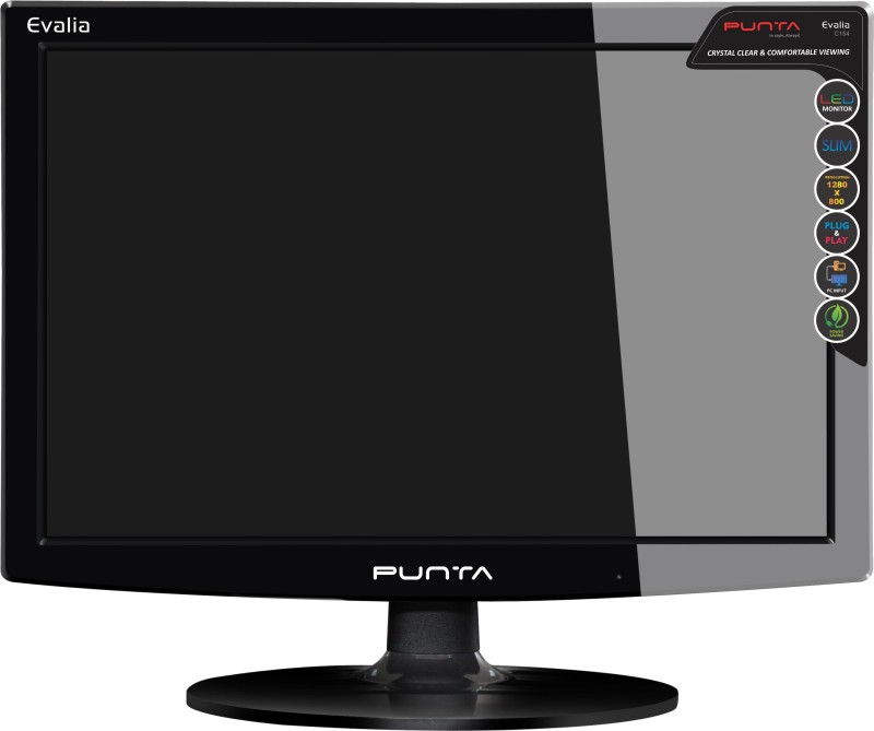 Punta 15.4 inch HD+ LED Backlit Monitor(Evalia C154 Wall Mountable 39.1 cms Slim) image