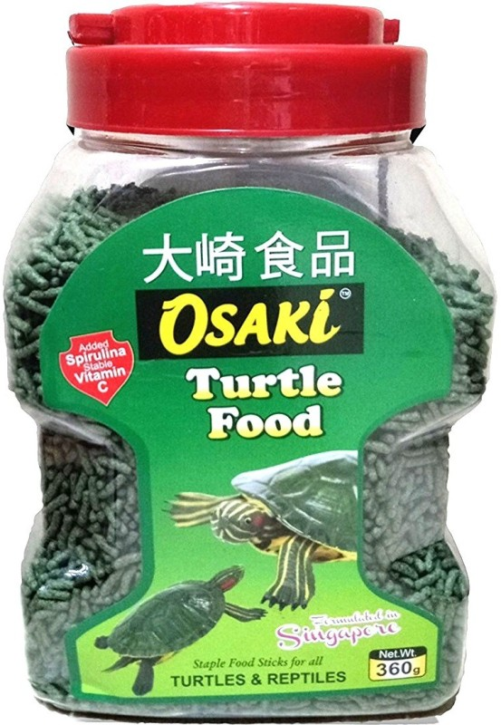 OSAKi Turtle Food 360g | Staple Food Sticks For All Turtles & Reptiles | (Formulated in Singapore) | Dry Turtle Food