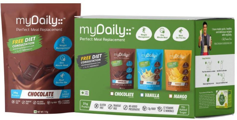 myDaily Perfect Meal Replacement ( Chocolate) Pack of 10(1150 g)