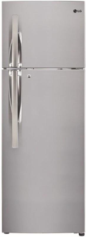 LG 260 L Frost Free Double Door Refrigerator(Shiny Steel, GL-T292RPZU)
